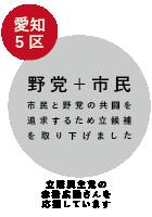 愛知1区 市民+野党