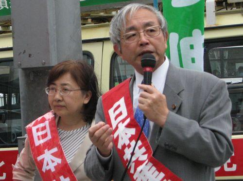 だて勲県議予定候補(左)、鈴木みさ子市議予定候補(右)