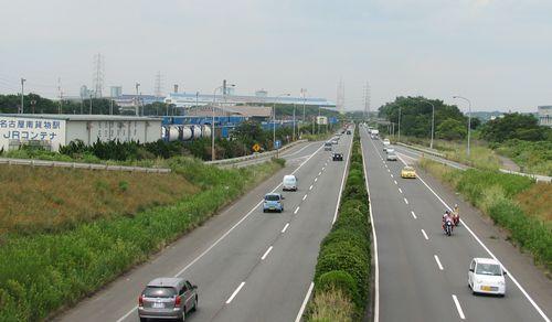 現在の西知多産業道路(東海市)