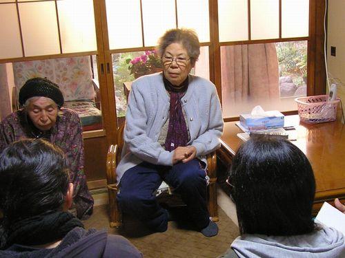 お年寄りと後期高齢者医療制度について懇談