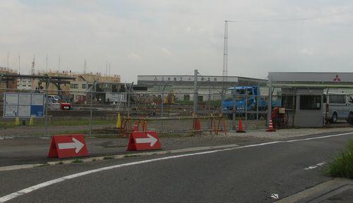 MRJ技術試験場建設現場=6月29日、豊山町