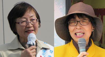 辻井タカ子氏(左)、安井ひろ子氏(右)